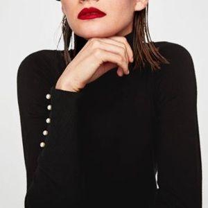 Zara pearl button sweater